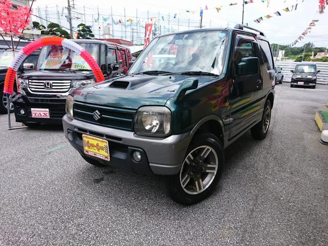 沖縄の中古車 スズキ ジムニー 車両価格 65万円 リ済別 2006(平成18)年 11.7万km グリーン
