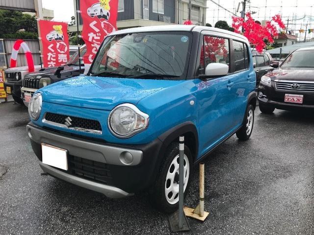 沖縄の中古車 スズキ ハスラー 車両価格 115万円 リ済別 2015(平成27)年 4.6万km ブルーII