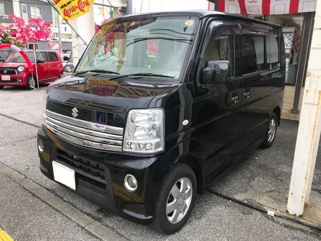 沖縄の中古車 スズキ エブリイワゴン 車両価格 119万円 リ済別 2014(平成26)年 1.5万km ブラック