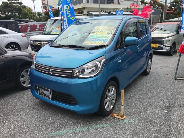 沖縄の中古車 三菱 eKワゴン 車両価格 59万円 リ済別 2014(平成26)年 6.7万km ブルーM