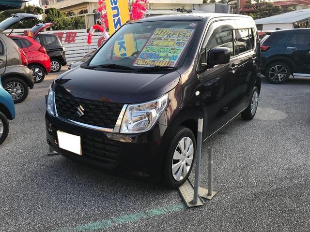 沖縄の中古車 スズキ ワゴンR 車両価格 69万円 リ済別 2015(平成27)年 3.0万km ワイン