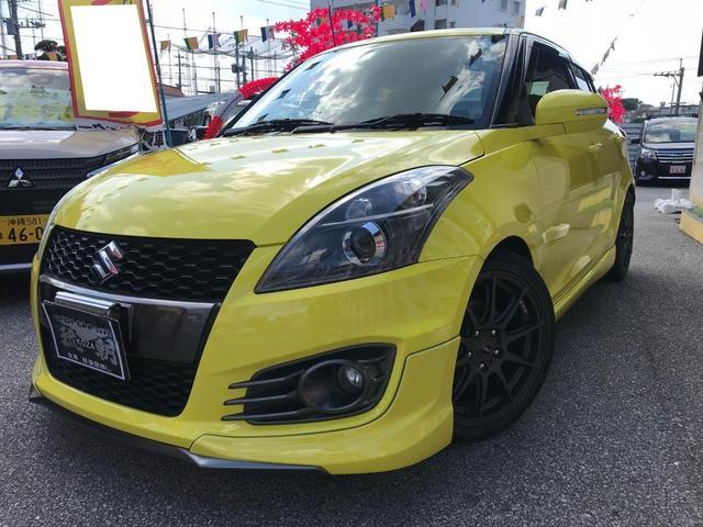 沖縄の中古車 スズキ スイフトスポーツ 車両価格 125万円 リ済別 2015(平成27)年 5.3万km イエロー