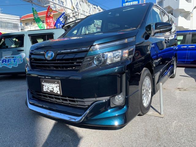 沖縄の中古車 トヨタ ヴォクシー 車両価格 229万円 リ済込 2015(平成27)年 5.8万km ブルーM