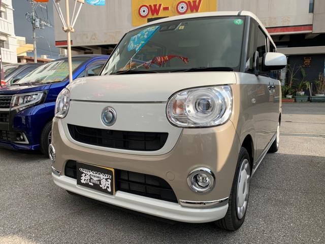 沖縄の中古車 ダイハツ ムーヴキャンバス 車両価格 159万円 リ済込 2019(令和1)年 3.7万km ツートン