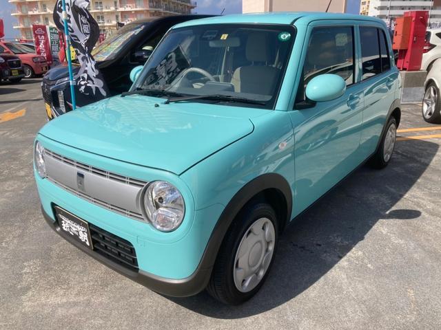 沖縄の中古車 スズキ アルトラパン 車両価格 113万円 リ済込 2020(令和2)年 1.1万km Lグリーン