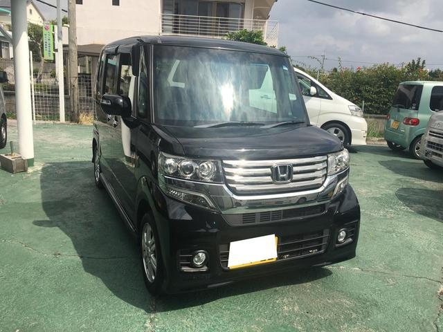 沖縄の中古車 ホンダ N-BOXカスタム 車両価格 84万円 リ済込 2012(平成24)年 11.7万km ブラック