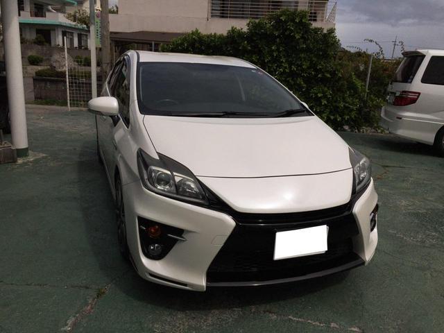 沖縄の中古車 トヨタ プリウス 車両価格 114万円 リ済込 2012(平成24)年 10.2万km ホワイト