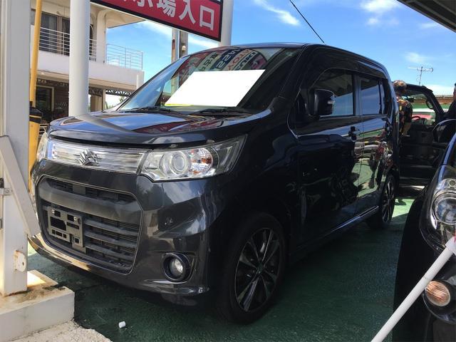 沖縄の中古車 スズキ ワゴンRスティングレー 車両価格 49万円 リ済込 2013(平成25)年 5.0万km ガンM
