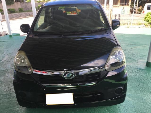 沖縄の中古車 ダイハツ ミライース 車両価格 23万円 リ済込 2014(平成26)年 12.9万km ブラック