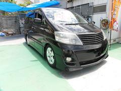 沖縄の中古車 トヨタ アルファードV 車両価格 89万円 リ済込 平成20後 13.5万K ブラックM