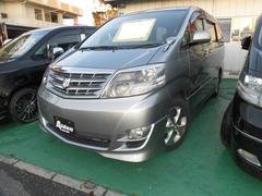 沖縄の中古車 トヨタ アルファードV 車両価格 72万円 リ済込 平成19後 12.5万K グレーM