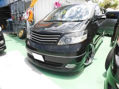 沖縄の中古車 トヨタ アルファードV 車両価格 89万円 リ済込 平成18後 14.1万K ブラックM