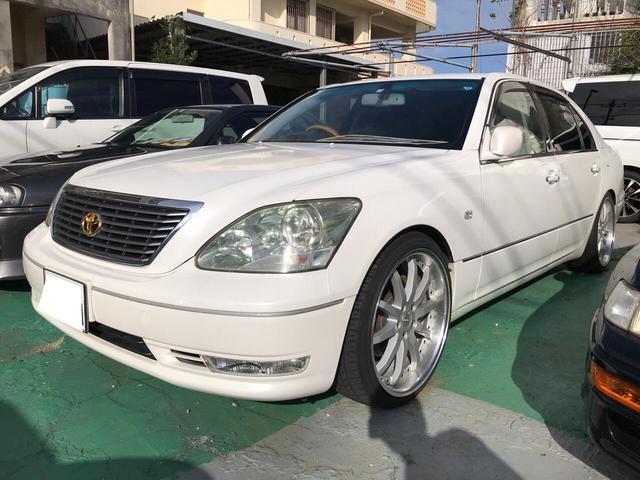沖縄県の中古車ならセルシオ C仕様 革シート 純正ナビ エアサス