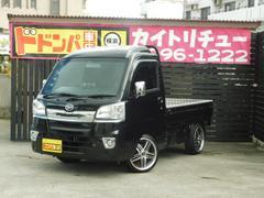 沖縄の中古車 ダイハツ ハイゼットトラック 車両価格 95万円 リ済別 平成27年 1.0万K ブラックM