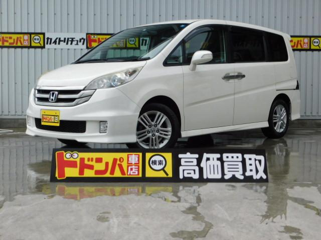 沖縄の中古車 ホンダ ステップワゴン 車両価格 50万円 リ済別 2009(平成21)年 10.5万km パールホワイト
