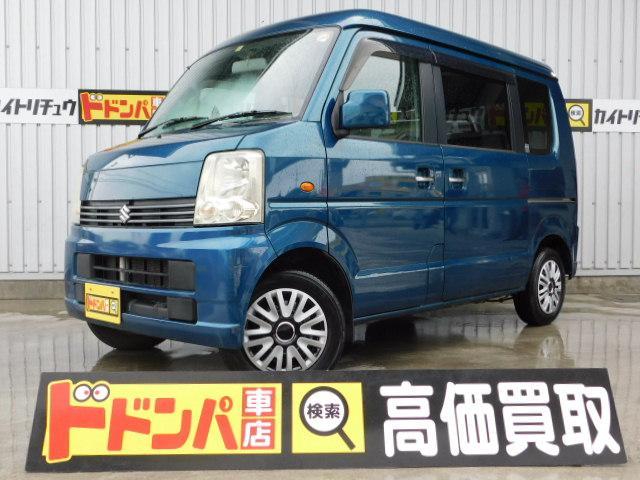沖縄の中古車 スズキ エブリイワゴン 車両価格 20万円 リ済別 2006(平成18)年 10.6万km グリーンM