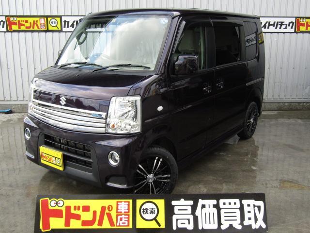 沖縄県うるま市の中古車ならエブリイワゴン PZターボ 社外ホイル14インチ新品 ナビ新品
