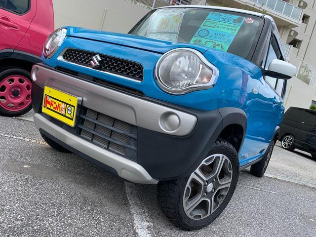 沖縄の中古車 スズキ ハスラー 車両価格 100万円 リ済込 2015(平成27)年 6.4万km ブルー&ホワイト
