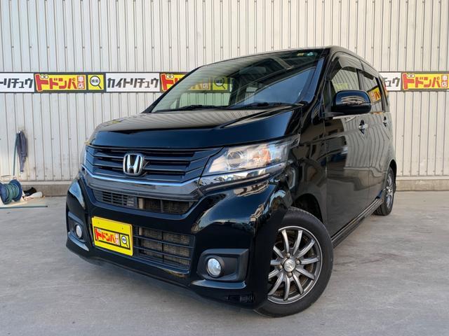沖縄の中古車 ホンダ N-WGNカスタム 車両価格 57万円 リ済込 2014(平成26)年 7.4万km ブラックM