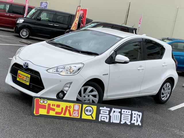 沖縄県豊見城市の中古車ならアクア S CD DVD ナビ付 コーナーセンサー ETC