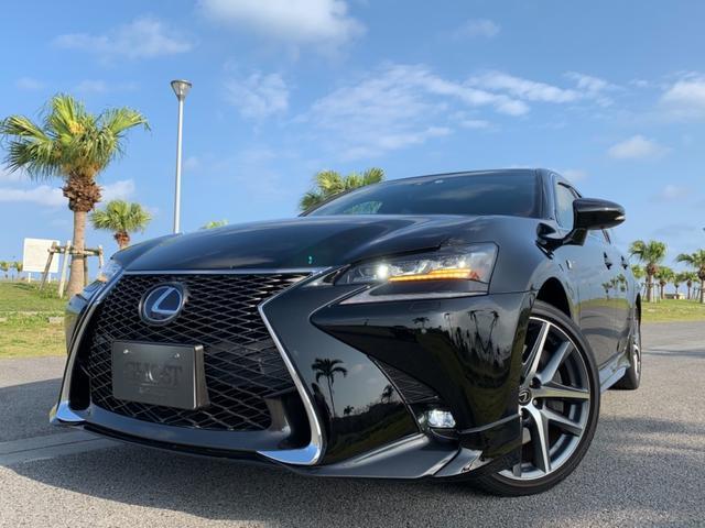 レクサス GS GS450h Fスポーツ 1オーナー/禁煙車/レーダークルーズコントロール(ブレーキ制御付)/ムーンルーフ/パワートランクリッド/三眼LEDヘッドライト/クリアランスソナー/4本マフラー/ブラインドスポットモニター