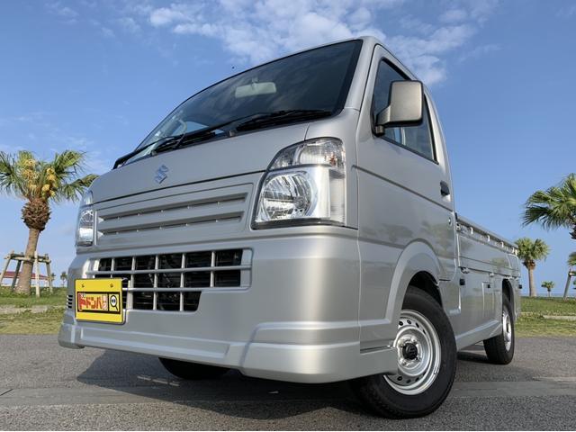 沖縄県うるま市の中古車ならキャリイトラック KCエアコン・パワステ MT車/フルエアロ/低走行!