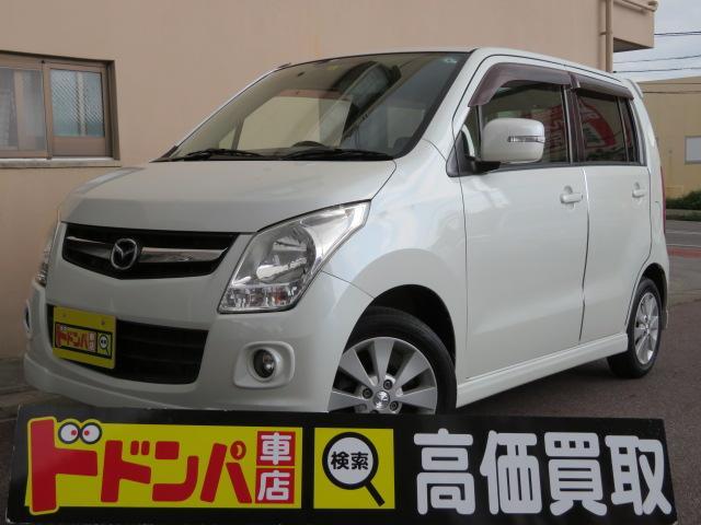 沖縄の中古車 マツダ AZワゴン 車両価格 25万円 リ済込 2009(平成21)年 12.0万km パールホワイト