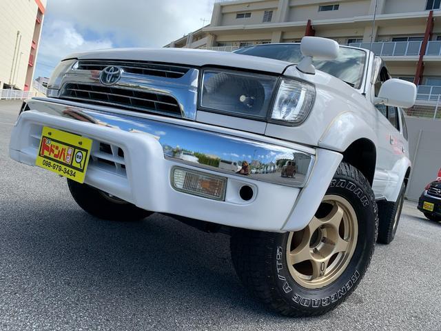 沖縄の中古車 トヨタ ハイラックスサーフ 車両価格 70万円 リ済込 2001(平成13)年 17.0万km ホワイト