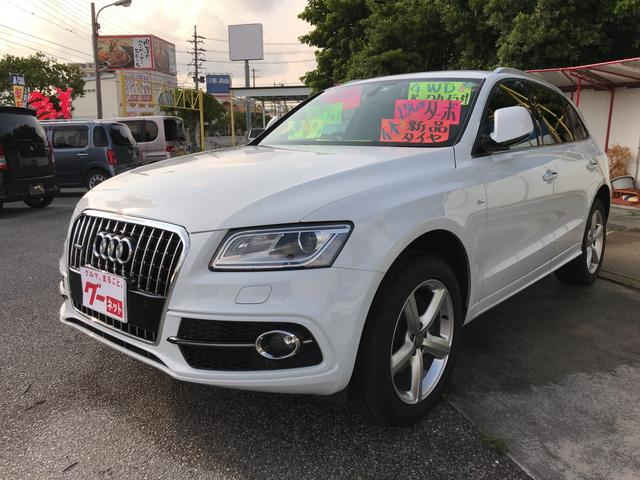 沖縄の中古車 アウディ アウディ Q5 車両価格 250万円 リ済込 2015年 7.7万km ホワイト
