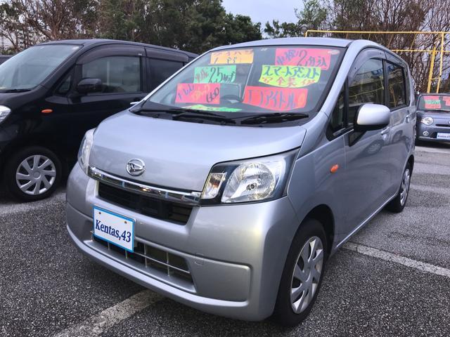 沖縄の中古車 ダイハツ ムーヴ 車両価格 52万円 リ済込 2013(平成25)年 9.6万km シルバー