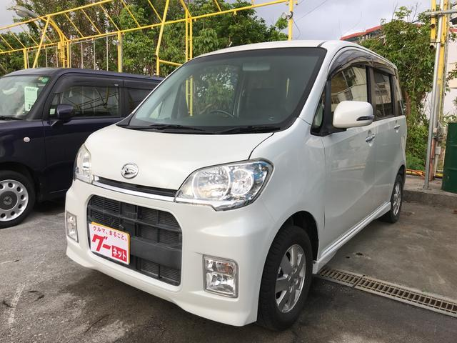 沖縄の中古車 ダイハツ タントエグゼ 車両価格 56万円 リ済込 平成22年 9.4万km パールホワイトIII