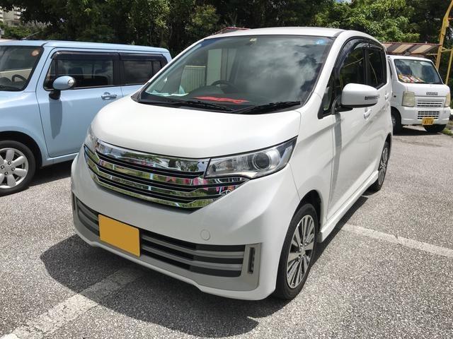 沖縄の中古車 日産 デイズ 車両価格 72万円 リ済込 2013(平成25)年 10.3万km パールホワイト