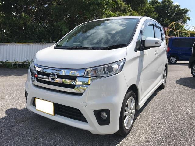 沖縄の中古車 日産 デイズ 車両価格 75万円 リ済込 2013(平成25)年 10.9万km パールホワイト