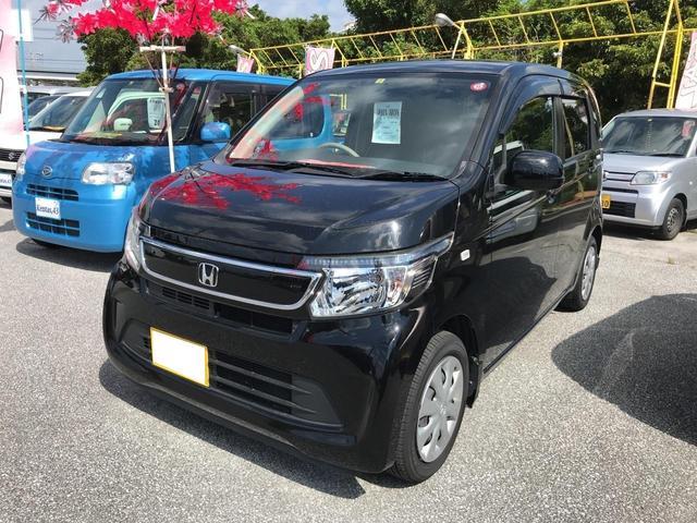 沖縄の中古車 ホンダ N-WGN 車両価格 63万円 リ済込 2014(平成26)年 10.7万km ブラック