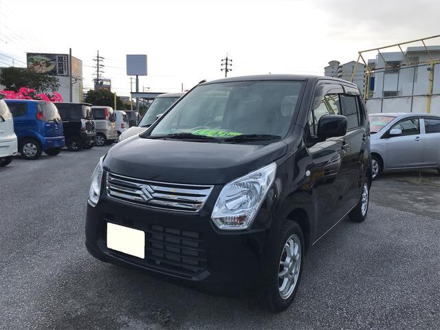 沖縄の中古車 スズキ ワゴンR 車両価格 45万円 リ済込 2013(平成25)年 10.8万km ブラック