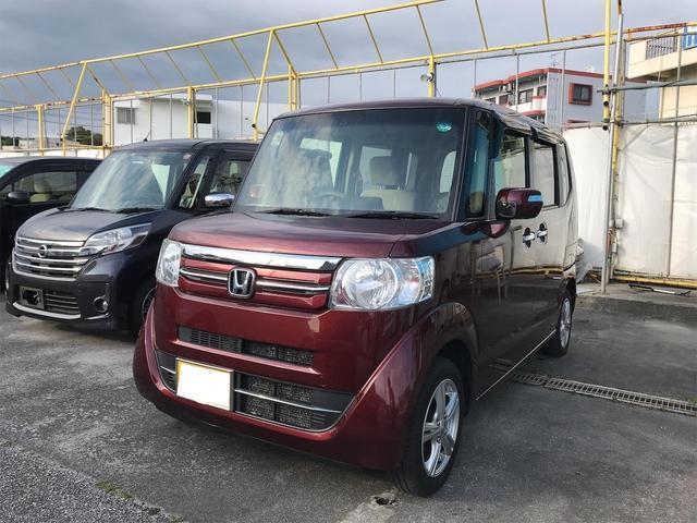 沖縄の中古車 ホンダ N-BOX 車両価格 73万円 リ済込 2015(平成27)年 10.5万km ワイン