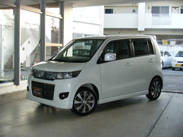 沖縄の中古車 スズキ ワゴンRスティングレー 車両価格 55万円 リ済込 2012(平成24)年 9.9万km パールホワイト