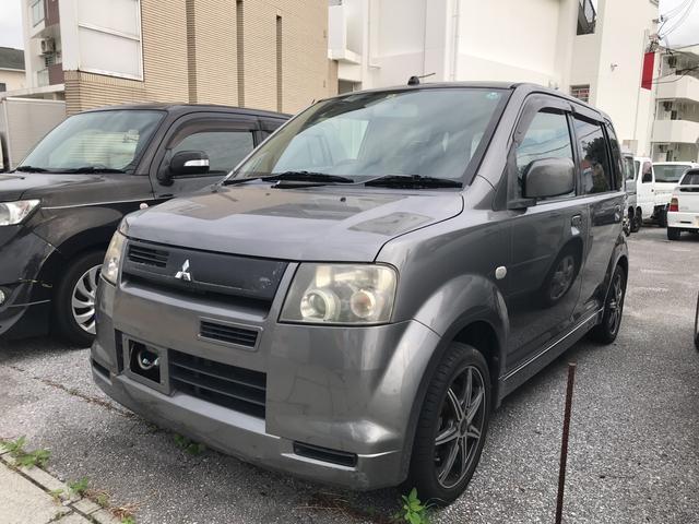 沖縄の中古車 三菱 eKスポーツ 車両価格 15万円 リ済込 平成15年 17.7万km ダークグレーメタリック