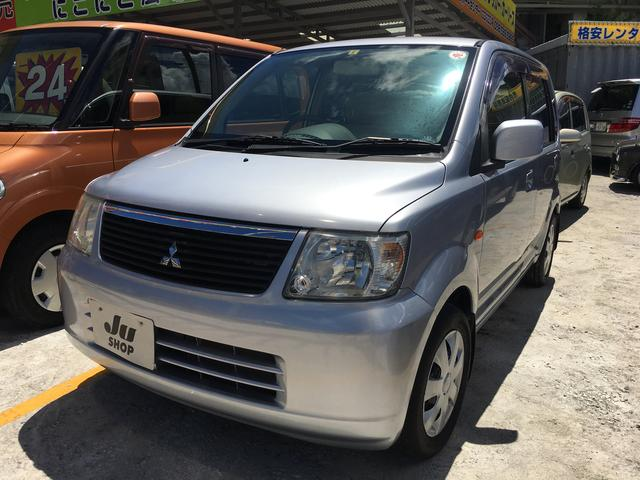沖縄の中古車 三菱 eKワゴン 車両価格 19万円 リ済込 平成18年 9.5万km クールシルバーメタリック