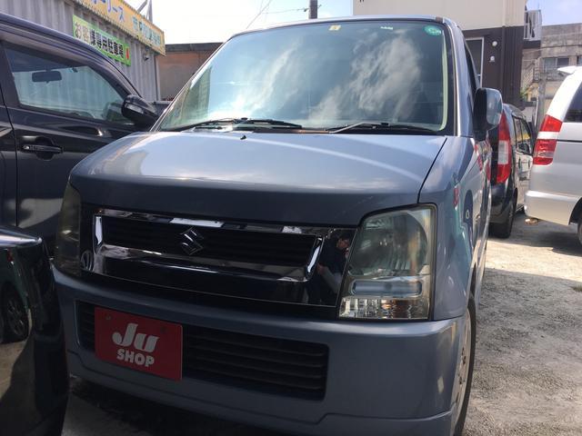沖縄の中古車 スズキ ワゴンR 車両価格 19万円 リ済込 平成17年 11.8万km ライトブルーM