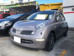 沖縄の中古車 日産 マーチ 車両価格 29万円 リ済込 平成17年 4.8万K シェリーシルバーTM