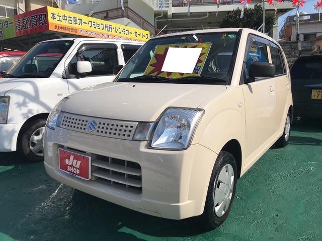 沖縄の中古車 スズキ アルト 車両価格 19万円 リ済込 平成19年 9.8万km ココナッツベージュメタリック