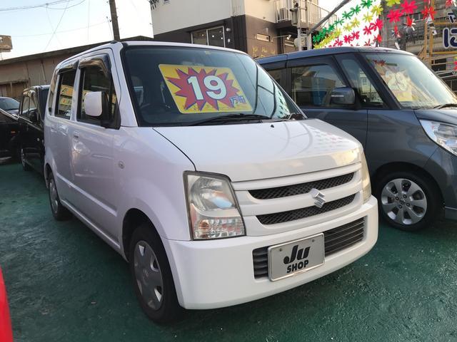 沖縄の中古車 スズキ ワゴンR 車両価格 19万円 リ済込 平成17年 11.8万km ホワイト