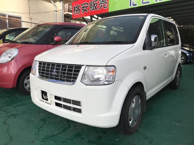 沖縄の中古車 三菱 eKワゴン 車両価格 24万円 リ済込 2010(平成22)年 14.3万km ホワイトソリッド