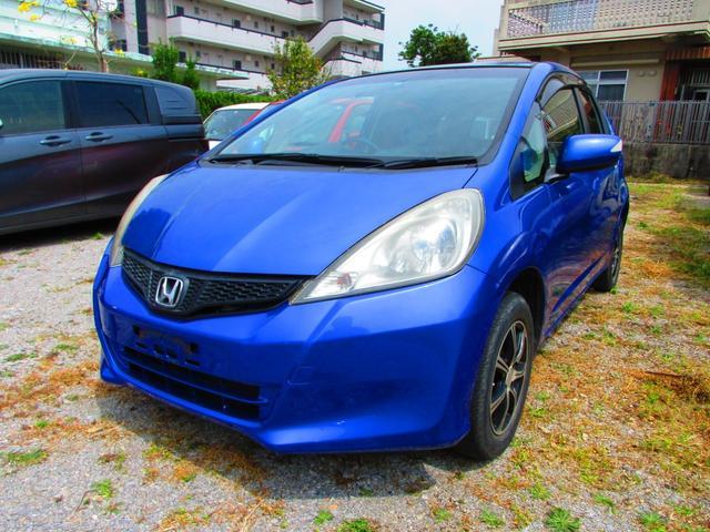 沖縄の中古車 ホンダ フィット 車両価格 21万円 リ済込 2011(平成23)年 17.8万km ブルー