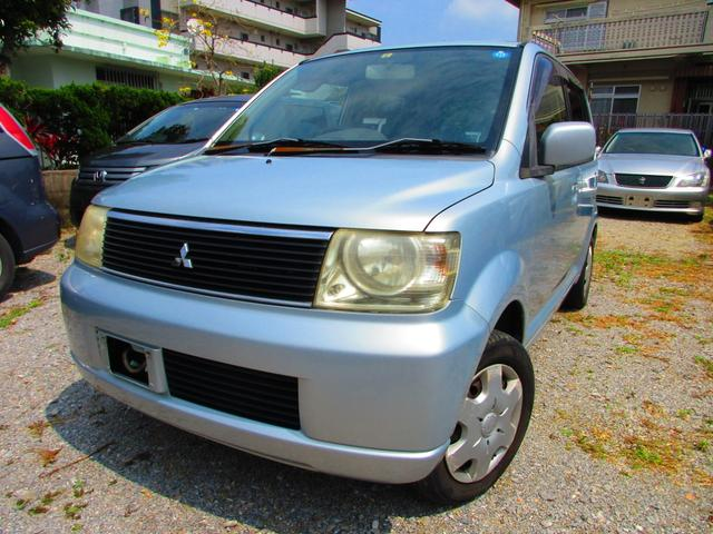 沖縄の中古車 三菱 eKワゴン 車両価格 12万円 リ済込 2003(平成15)年 14.5万km シルバー