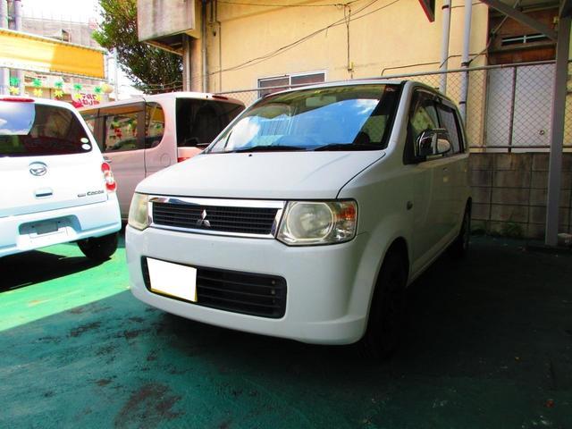 沖縄の中古車 三菱 eKワゴン 車両価格 16万円 リ済込 2008(平成20)年 15.0万km ホワイト