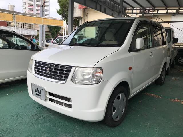 沖縄の中古車 三菱 eKワゴン 車両価格 24万円 リ済込 2011(平成23)年 8.2万km ホワイトソリッド