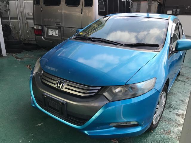 沖縄の中古車 ホンダ インサイト 車両価格 45万円 リ済込 2009(平成21)年 12.4万km シャーベットブルーメタリック