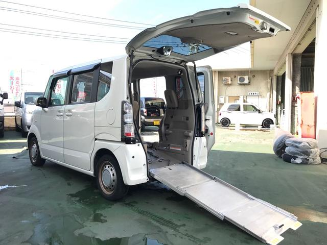 沖縄県の中古車ならN BOX+ 福祉車両 スローパー 電動ウインチ コーナーセンサー